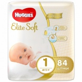 Подгузники Huggies Elite Soft 1 (до 5 кг) 84шт. Арт. 5029053547947