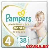 Трусики Pampers Premium Care Pants Maxi 4 (9-15 кг) 38шт, Россия, арт. 8001090759832
