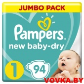 Пoдгузники Pampers New Baby 1 Newborn (2-5 кг) 94 шт, Россия