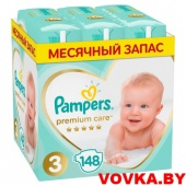 Подгузники Pampers Premium Care 3 Midi (6-10 кг) 148 шт, Россия, арт. 8001841648828