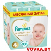 Подгузники Pampers Premium Care 4 Maxi (9-14 кг) 108 шт, Россия, арт. 8001841648835