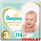 Подгузники Pampers Premium Care 3 Midi (6-10 кг) 114 шт, Россия, арт. 8001090604545