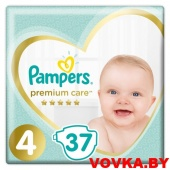 Подгузники Pampers Premium Care 4 Maxi (9-14 кг) 37 шт, Россия, арт. 8001090646491