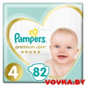 Подгузники Pampers Premium Care 4 Maxi (9-14 кг) 82 шт, Россия, арт. 8001090646637