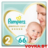 Подгузники Pampers Premium Care 2 Mini (4-8 кг) 66 шт, Россия, арт. 8001090646309