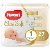 Подгузники Huggies Elite Soft 1 (до 5 кг) 27шт. арт.5029053545479