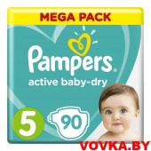 Подгузники Pampers Active Baby-Dry (Junior) 5 (11-16 кг) 90шт., Россия