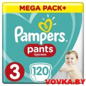 Трусики Pampers Pants Midi 3 (6-11 кг) 120 шт, Россия, арт. 4015400697527